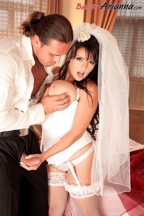 bride tits wedding big Busty fucked