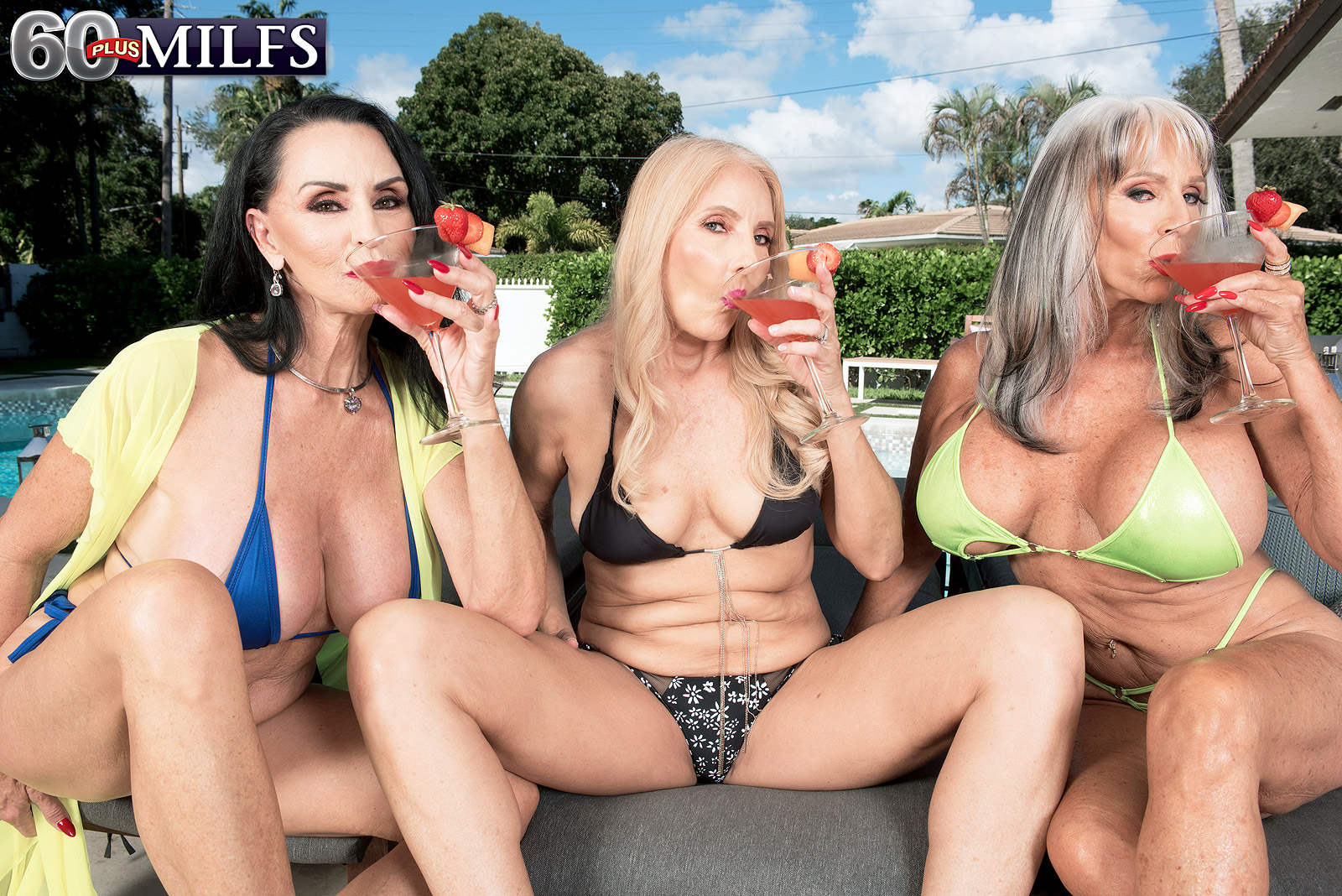 60 Plus Gilfs three gilfs, two cocks and chery's first dp - chery leigh