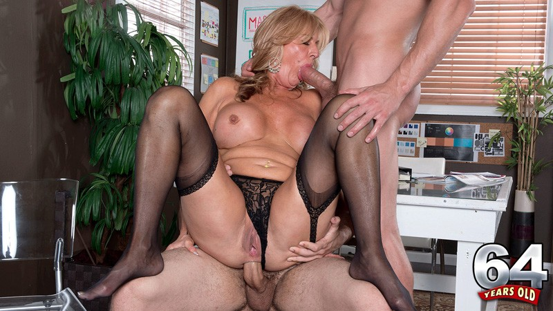 Milf in black stockings