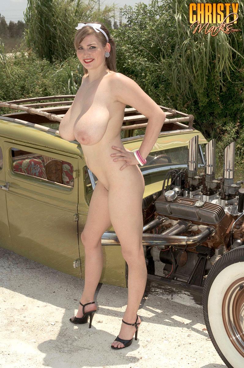 Naked girls on hot rods