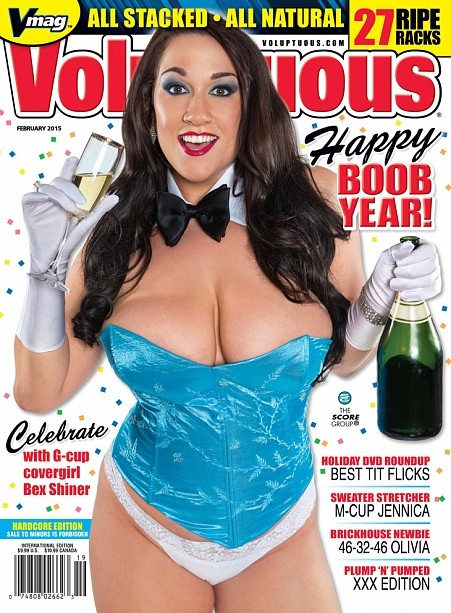 VOLUPTUOUS FEBRUARY 2015 Magazine cover image