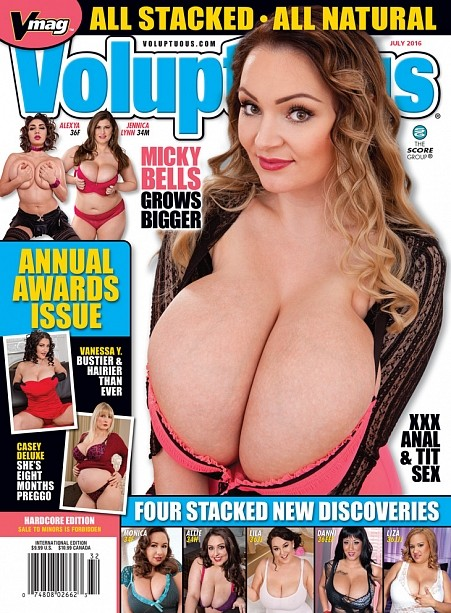 VOLUPTUOUS JULY 2016 Magazine cover image