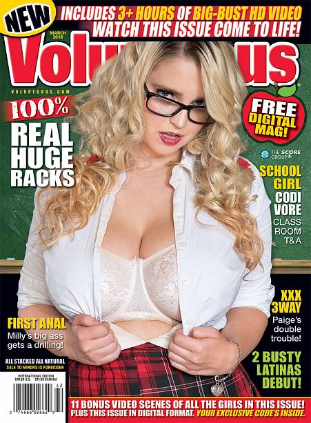 VOLUPTUOUS MARCH 2018 Magazine cover image