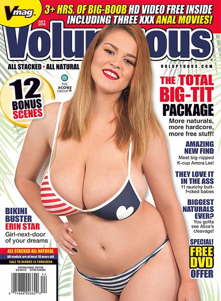 VOLUPTUOUS JULY 2018 Magazine cover image