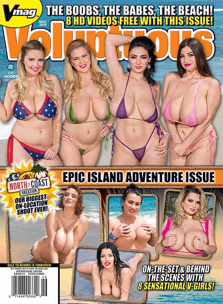 VOLUPTUOUS NOVEMBER 2018 Magazine cover image