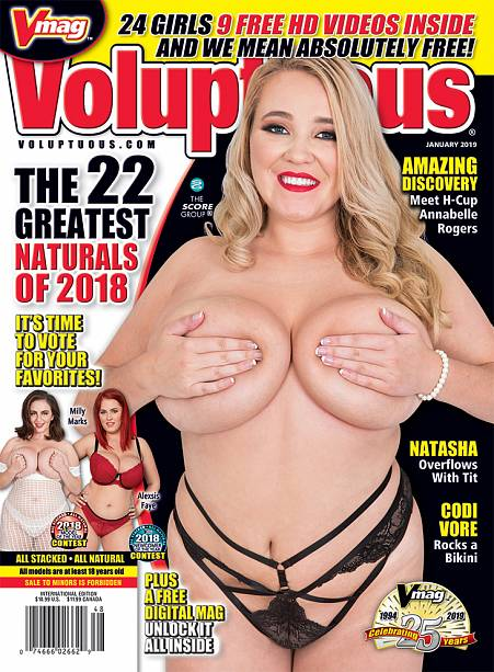VOLUPTUOUS JANUARY 2019 Magazine cover image