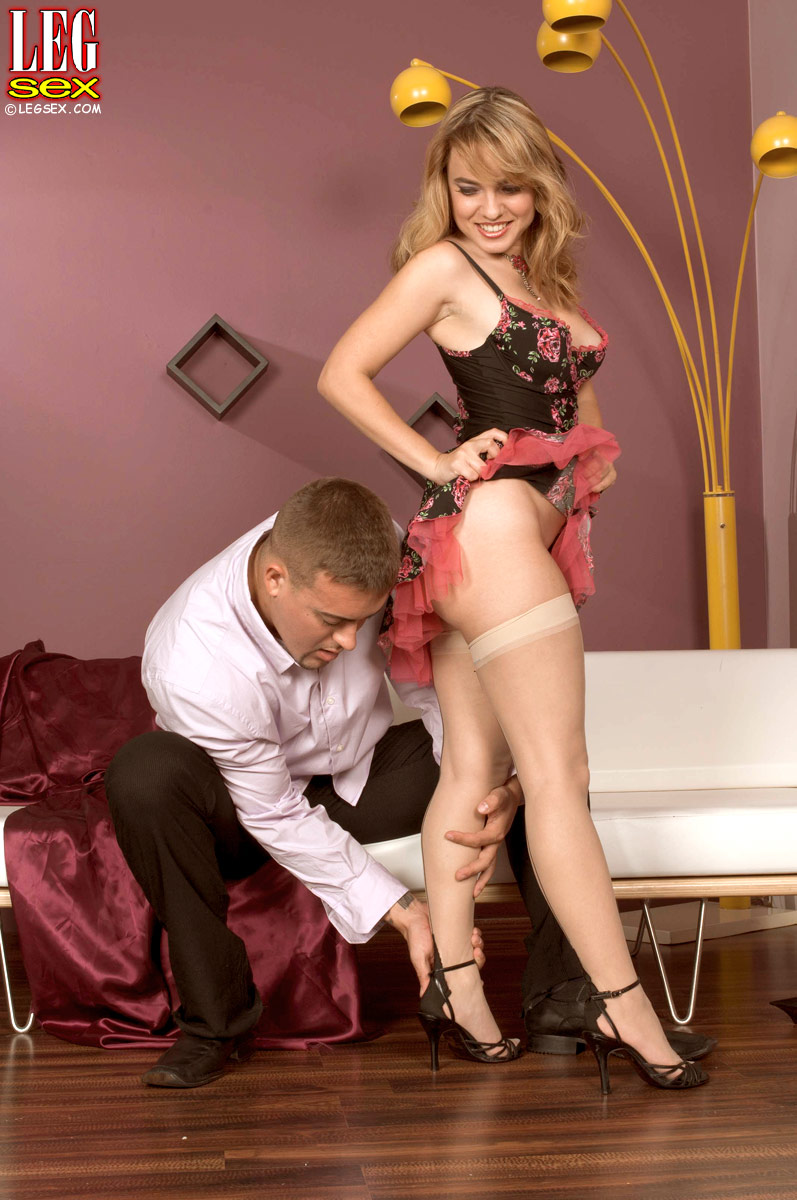 Erotic hot couple making love