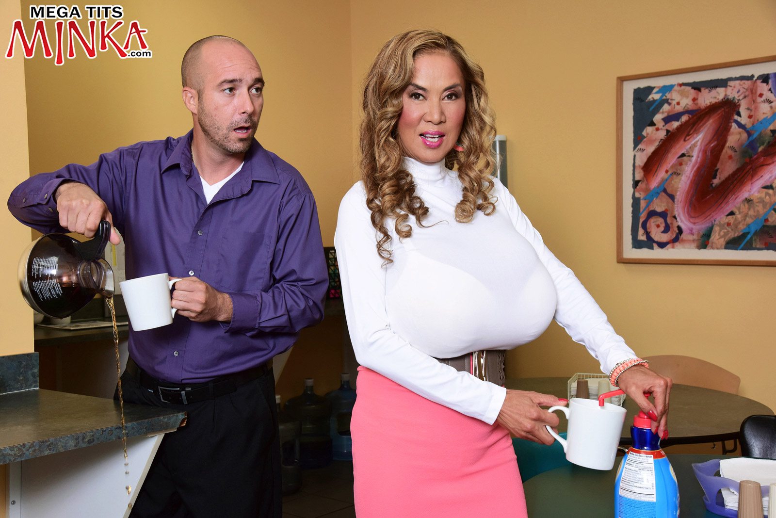 Mega-Boobs Office - Minka 50 Photos - Mega Tits Minka-7994