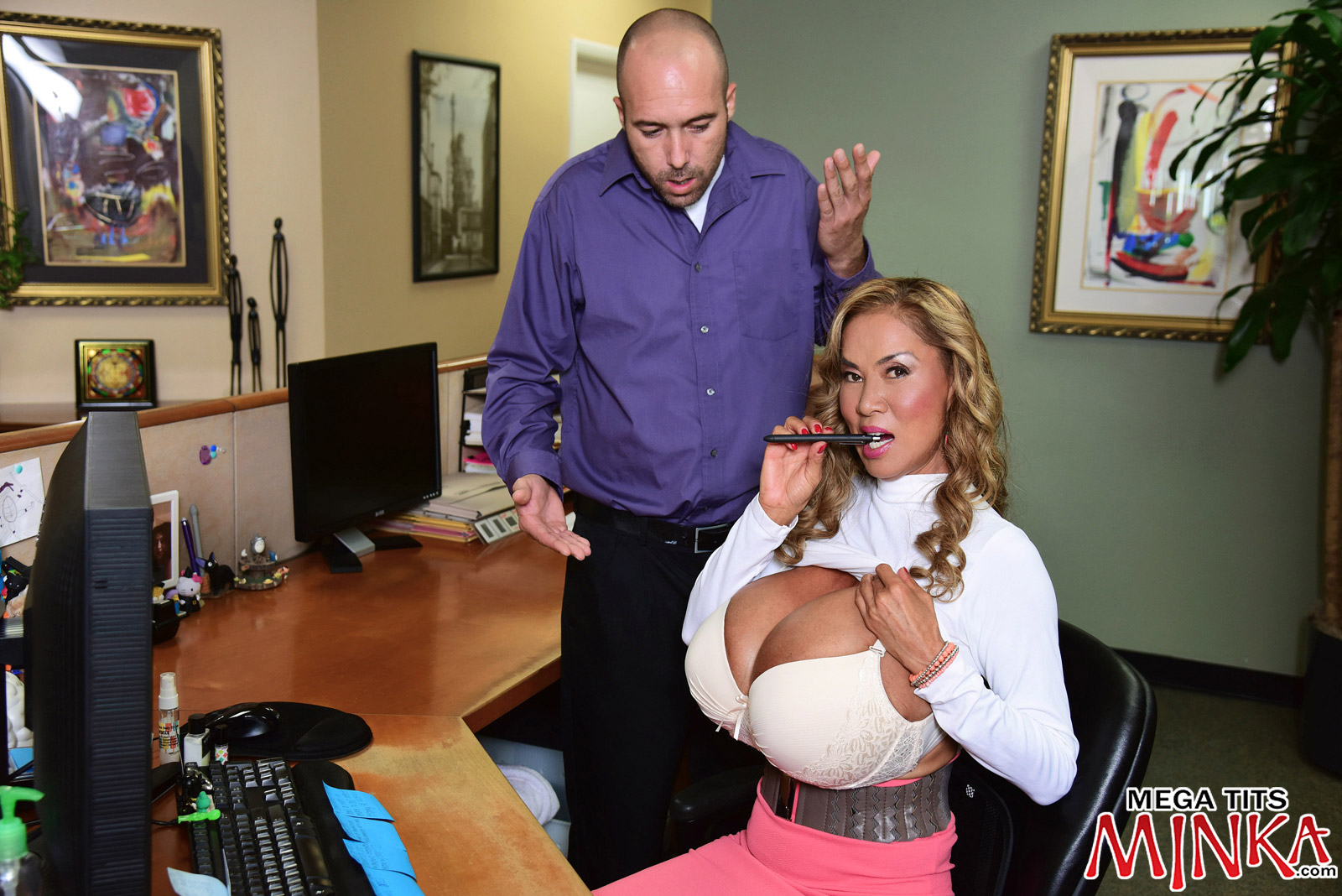 Mega-Boobs Office - Minka 50 Photos - Mega Tits Minka-6920