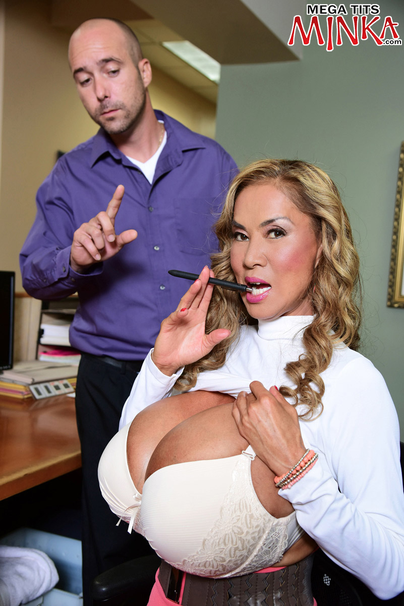 Mega-Boobs Office - Minka 50 Photos - Mega Tits Minka-9449