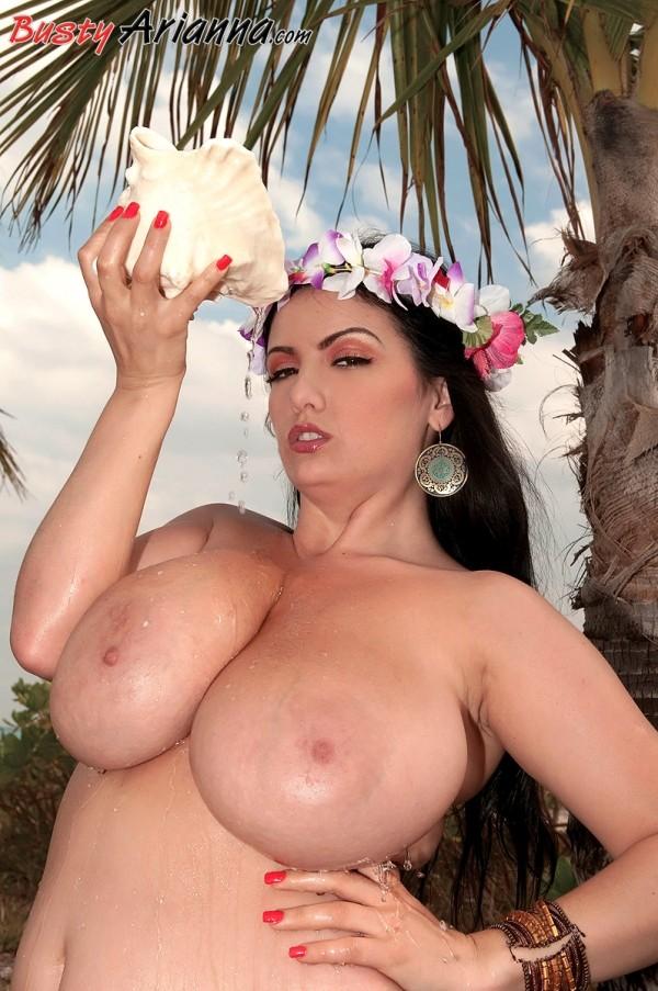 Busty Hula Girl
