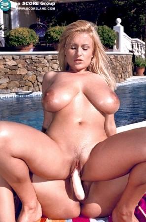Oiled massive tits