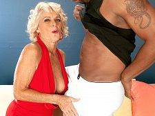 Big black cock makes Georgette cum hard
