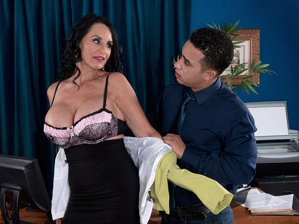 The ass-fucked boss is Rita Daniels