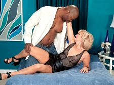 Polish MILF's first black cock, first anal