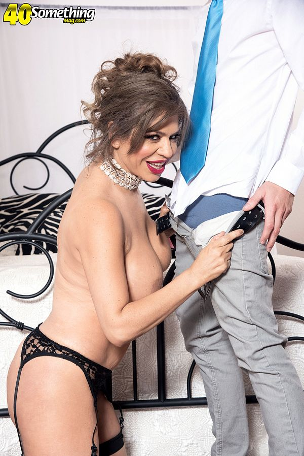 Andrea Grey's first on-camera fuck