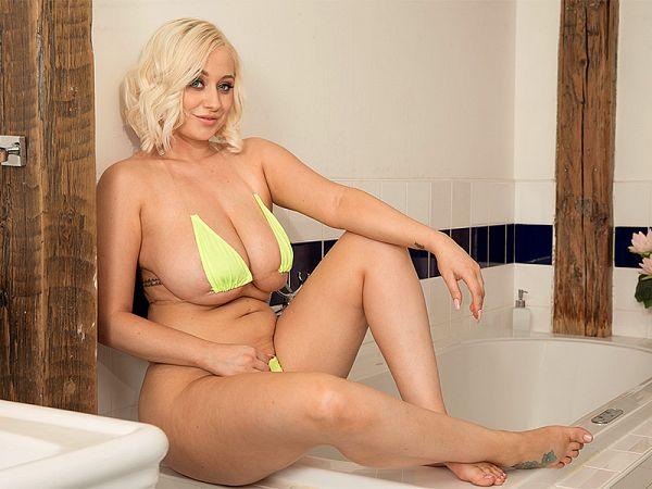 Busty Bikini Bath Babe