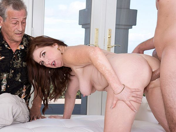 Ass-fucked by her grandson's friend