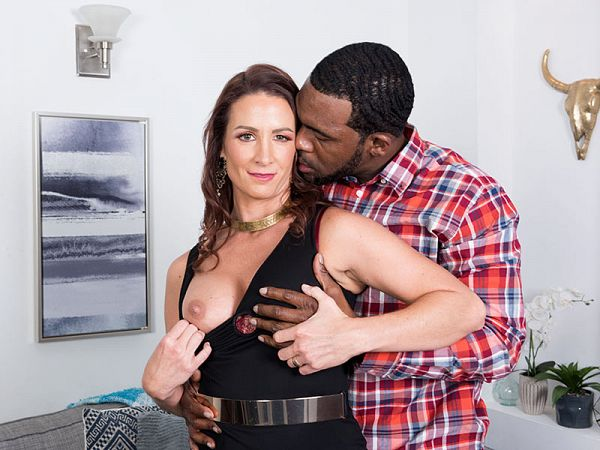 Ass-fucked by a big, black cock