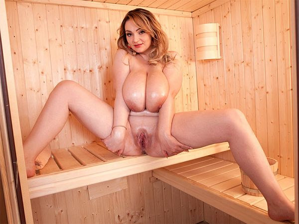 Hot, Oily & Wet In The Sauna