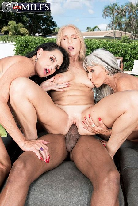 Three GILFs, two cocks and Chery's first DP