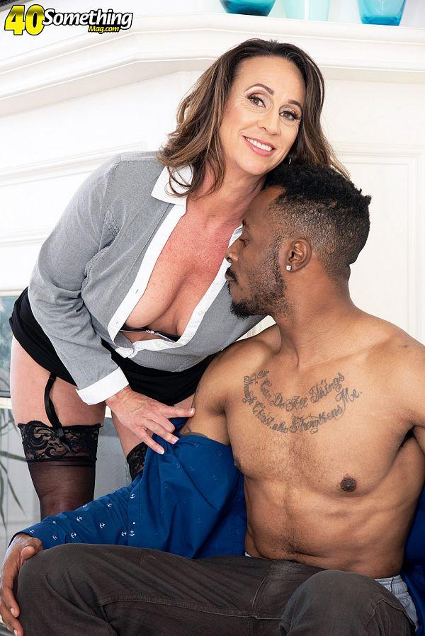 Raelynn sucks and fucks a big, black cock