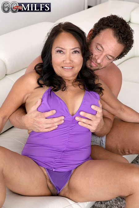 She's 70, she has a hairy pussy and she's getting fucked