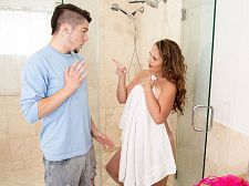 Brandii takes a shower with her son's topmost friend