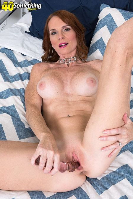 A cougar and her toy
