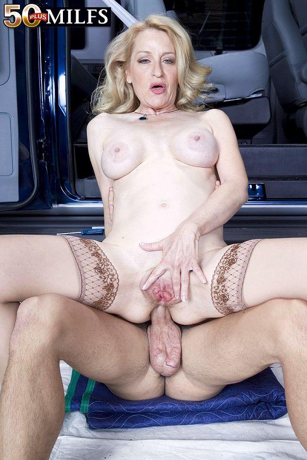 Ass-fucked on the garage floor