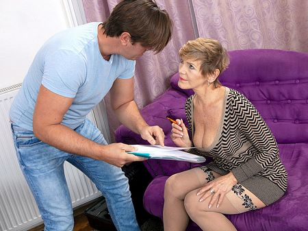 Granny gets hands-on with the handyman