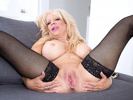 Big tits and fishnet stockings