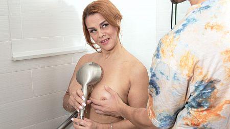 Sexy Latin MILF fucks her step-son