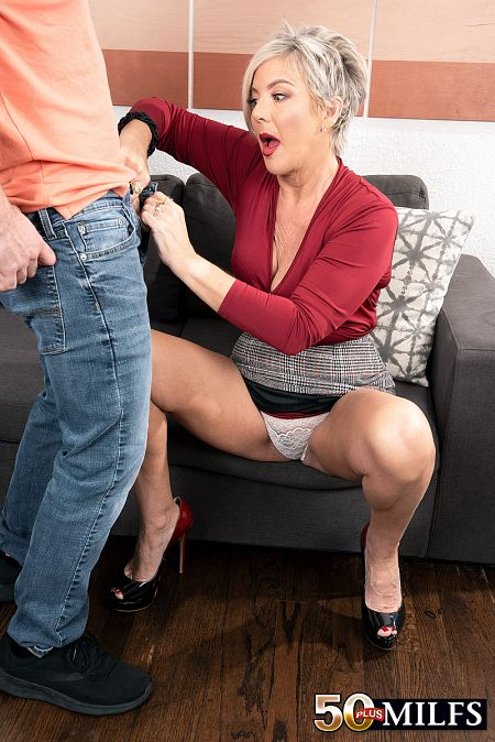 Young cock for a 55-year-old mom