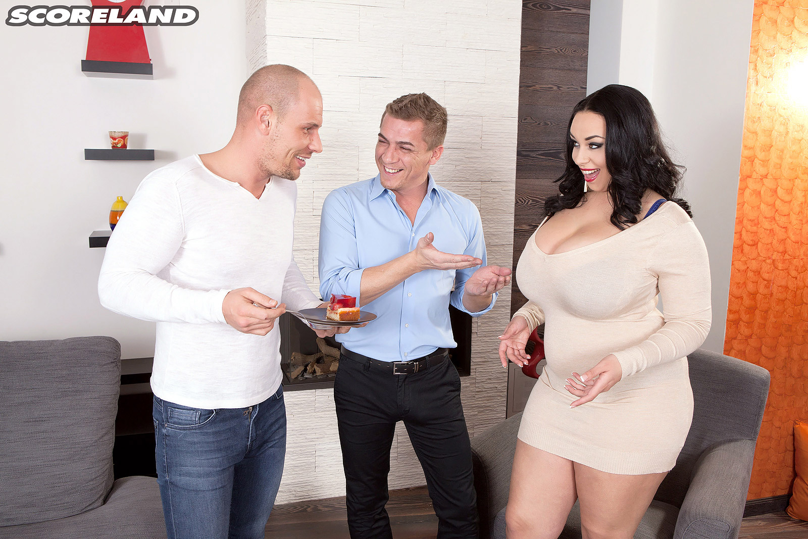well rounded busty brunette anastasia lux fucks her