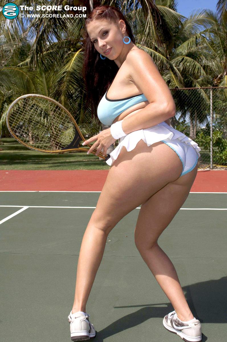 Playing girls big nude tennis boob