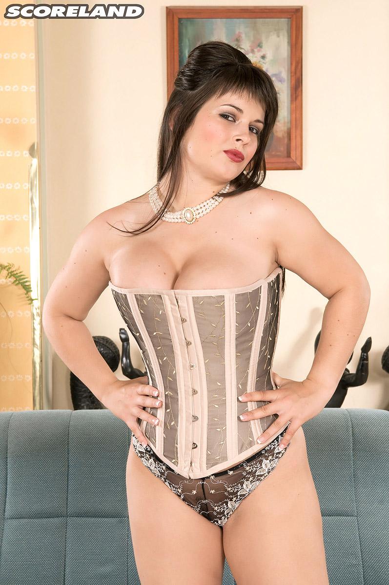 In big corset tits tight