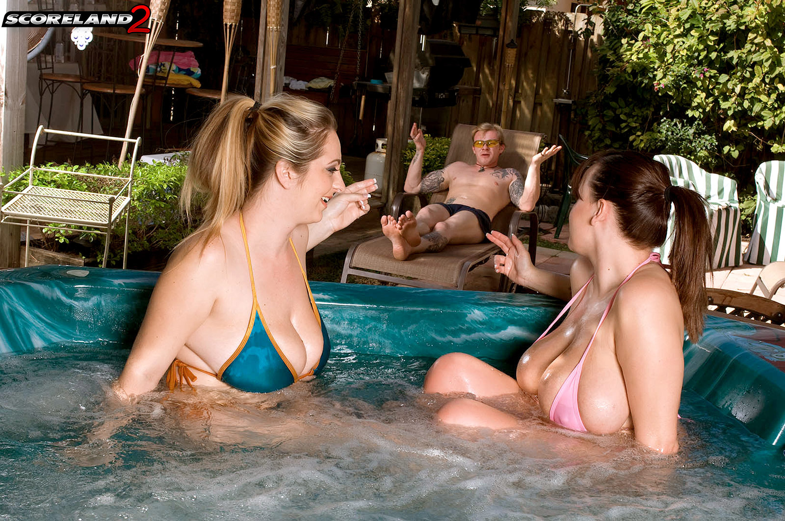 Congratulate, what Brandy taylor april threesome hot tub