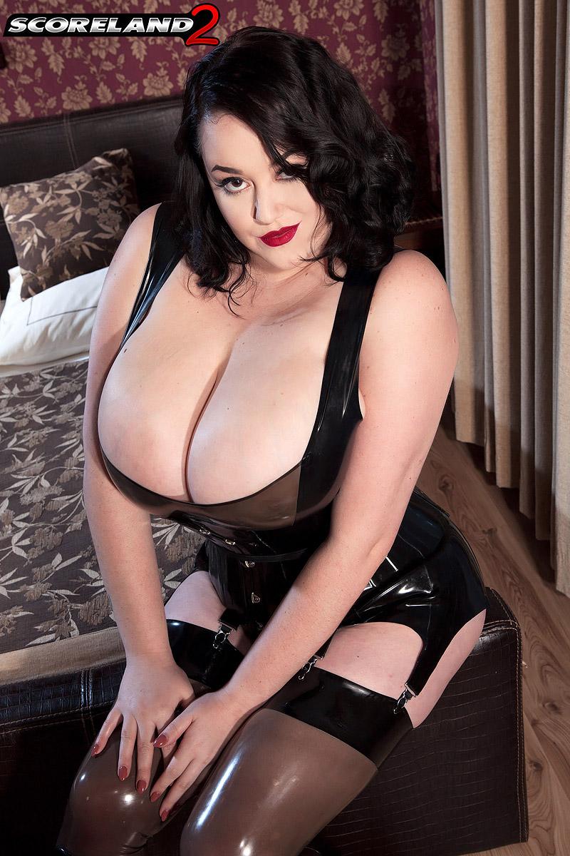 big boobs in latex