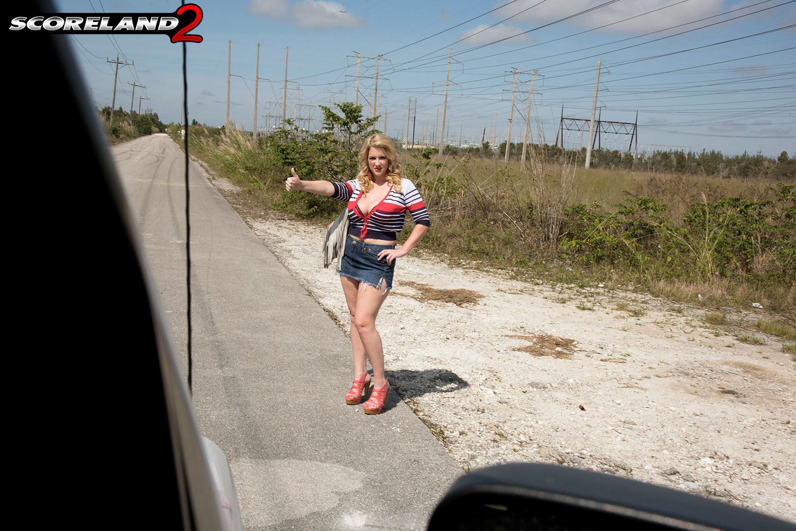Huge tits hitchhiking 13